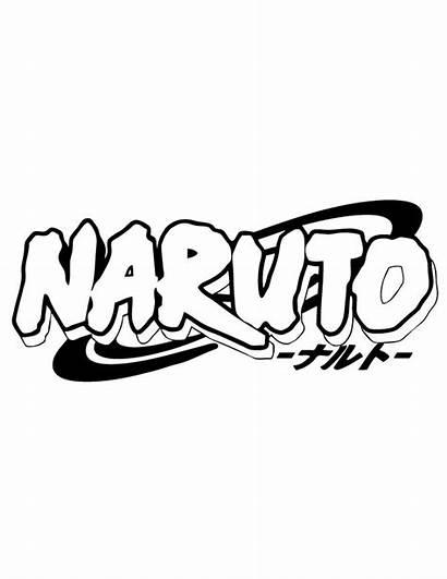 Naruto Coloring Cricut Anime Stickers Printable Drawing