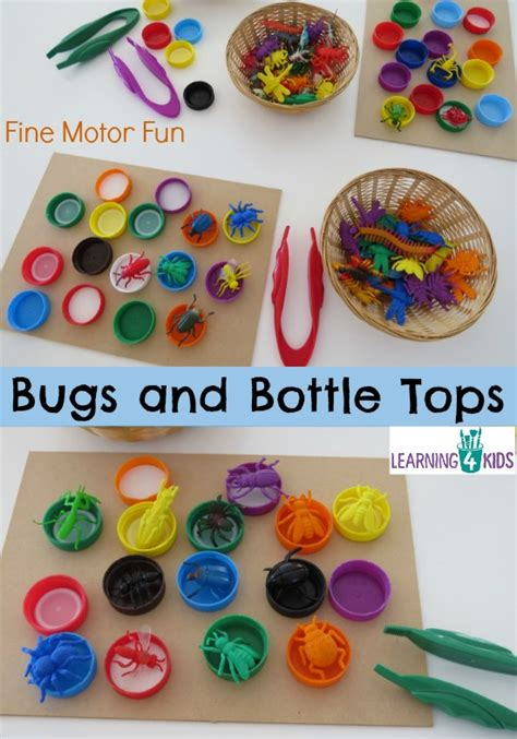 bugs and bottle tops learning 4 125 | Bugs and Bottle Tops simple fun fine motor activity for kids.