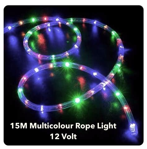 15m led multicolour 12 volt rope lights ideal for boats