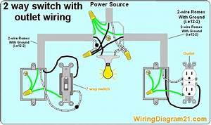 To Wire A Light Switch And Outletbo Diagram
