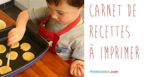 cuisine avec les enfants carnet de recettes
