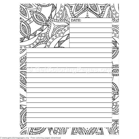 journal page coloring pages getcoloringpagesorg