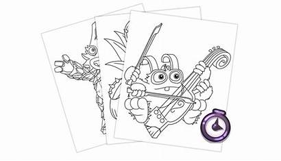 Singing Monsters Coloring Pages Update Need Daily