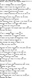 country through the years kenny rogers lyrics and chords