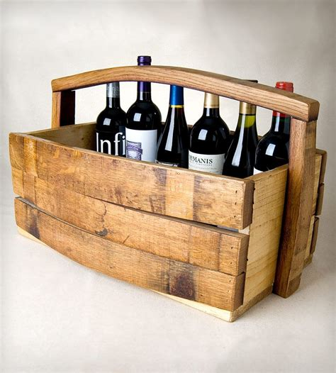 napa barrel stave magazinewine basket home kitchen