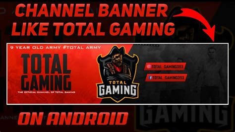 This ff banner tutorial hope help you guys. How to make a channel banner like total gaming    make ...