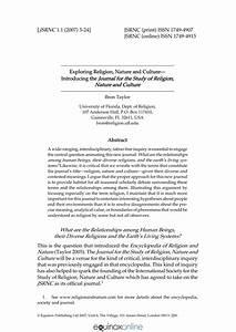 (PDF) Exploring Religion, Nature and...