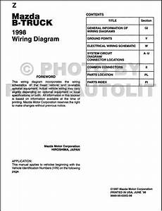1998 Mazda B400b300b230pickup Truck Wiring Diagram Original 2 And 4 Door