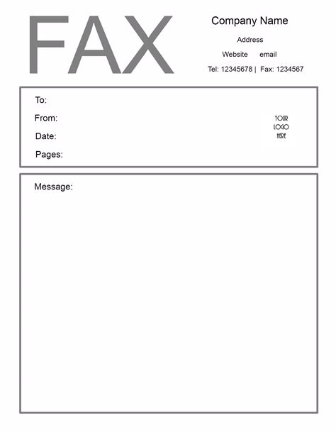 Fax Cover Sheet Template Free Fax Cover Letter Template