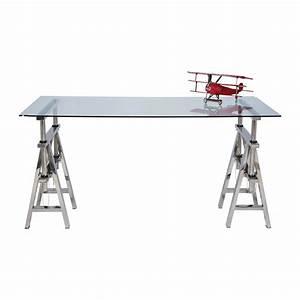 Bureau En Verre Design : table industrielle en verre pintor kare design ~ Teatrodelosmanantiales.com Idées de Décoration