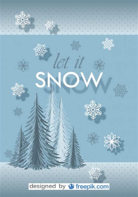 postcard   snow vector