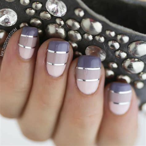metallic nail designs   nail art ideas