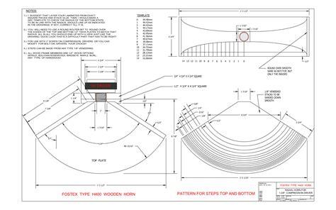 construction plans  fostex type   wooden horns techtalk speaker building