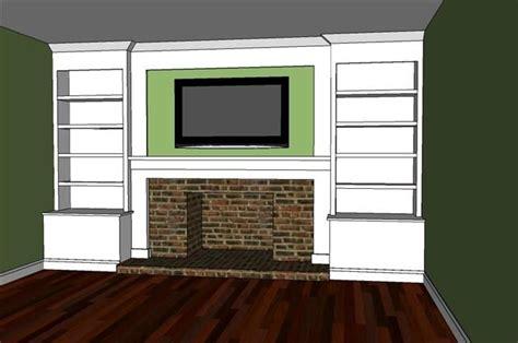 turn tv into fireplace built in bookshelves surrounding fireplace diy i ve been