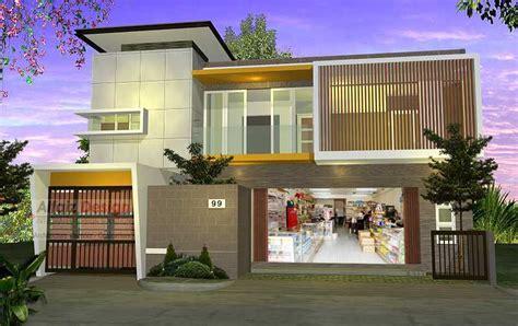 desain rumah toko modern  memulai bisnis  arsitag
