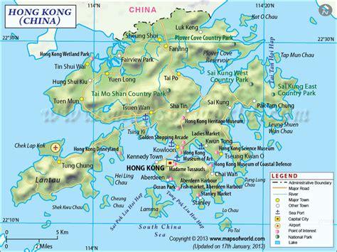 hong kong maps