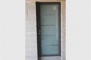 Moustiquaire Porte D Entrée : porte entree vitree alu sablee contemporain gma fen tres ~ Melissatoandfro.com Idées de Décoration