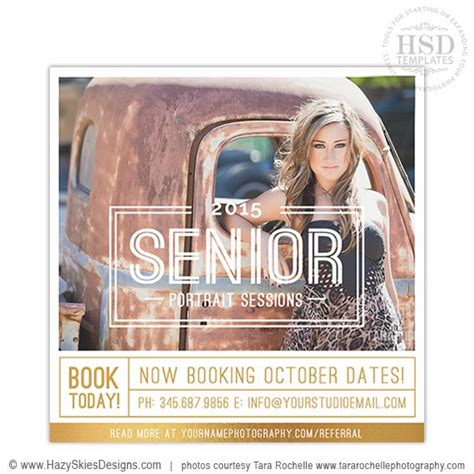 senior marketing templates  photographers senior
