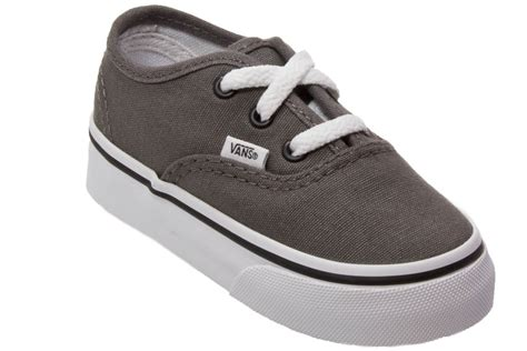Vans Authentic Grey Black Toddlers Kids Infants Trainers