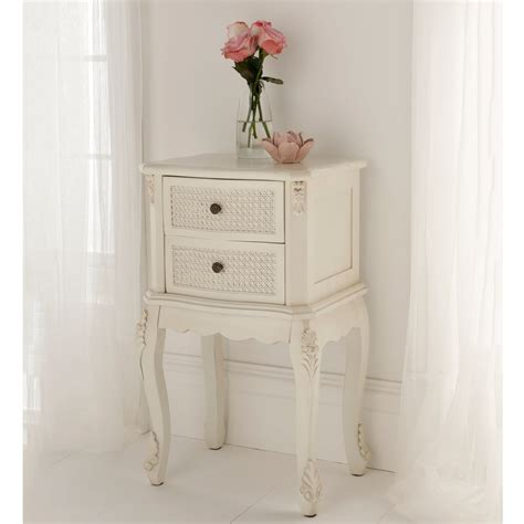 Shabby Chic by Rattan Shabby Chic Antique Style Bedside Table Shabby