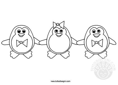 disegni piccolini pinguini disegni per bambini da colorare tuttodisegni
