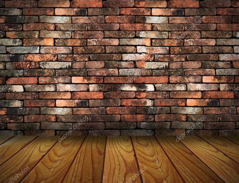 Vintage Brick Wall And Wood Floor Texture Interior