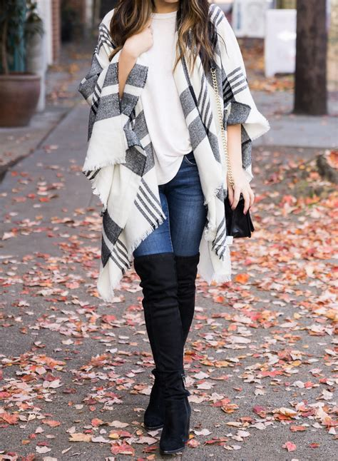 10 Stylish Ponchos For Fall Including My Go To Plaid