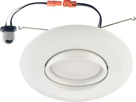 recessed lighting eyeball replacement 4 pack 6 inch recessed led gimbal downlight eyeball trim