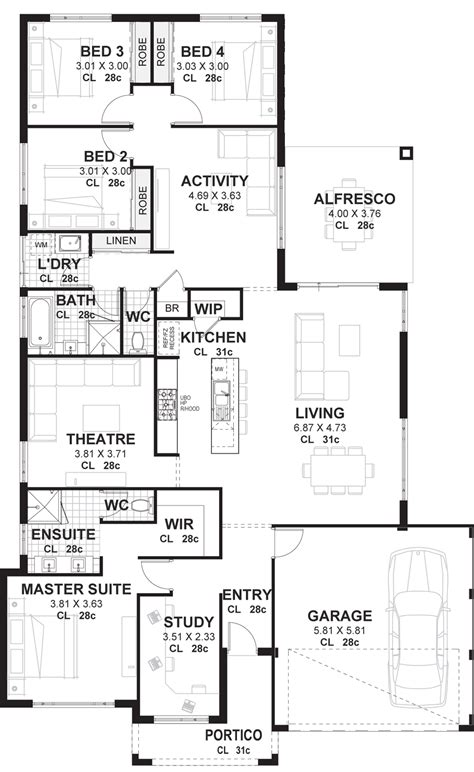 floor plans 200k single storey home designs perth from under 200k vision one