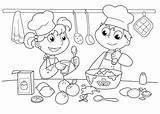 Coloring Pages Cooking Baking Printable Cookies Utensils Bakery Unisex Chef Cook Cake Chefs Kitchen Baked Goods Culinary Arts Funky Bunny sketch template