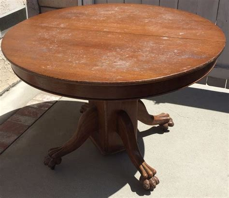 48 kitchen table with leaf antique oak claw foot dining or kitchen table w 4