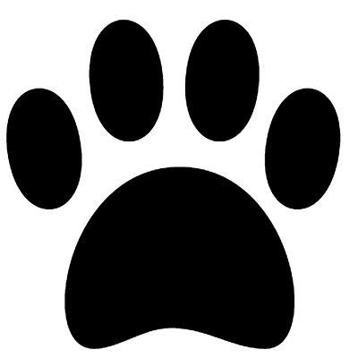 vinyl paw print silhouette stencil silhouette images
