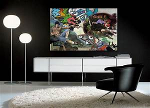 Tableau Contemporain Grand Format : grand tableau pas cher table de lit a roulettes ~ Teatrodelosmanantiales.com Idées de Décoration