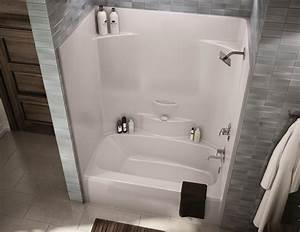 One Piece Bath And Shower Stall 54 Inch Wide Tub Combo
