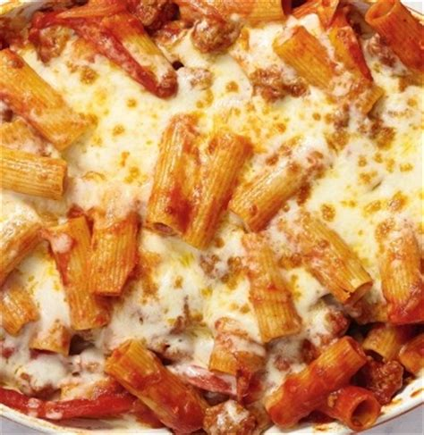baked rigatoni  italian sausage peppers  onions