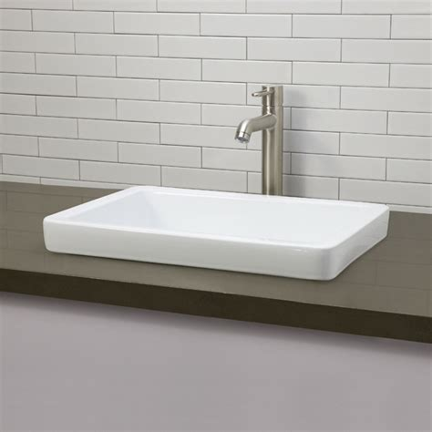 Recessed Bathroom Sink by Decolav Classically Redefined Semi Recessed Bathroom Sink