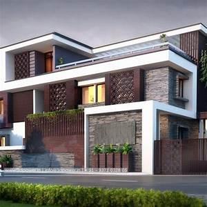 3d Exterior Design Rendering Modern Bungalow Cgtrader For