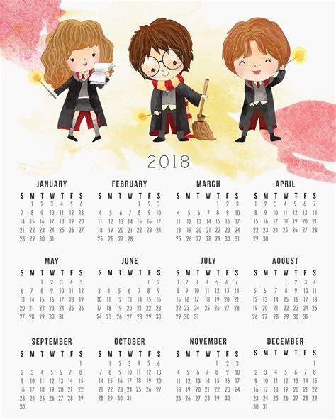 harry potter calendario imprimir gratis harry