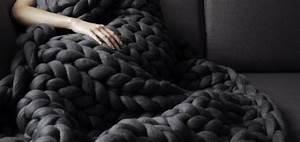 Plaid Grosse Maille Laine : plaid en laine grosse maille i love tricot ~ Teatrodelosmanantiales.com Idées de Décoration