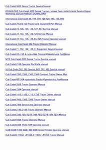 Cub Cadet 71 102 122 123 Ih Equipment Service By Emmadarby