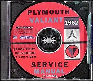 1962 Plymouth And Valiant Repair Shop Manual Original