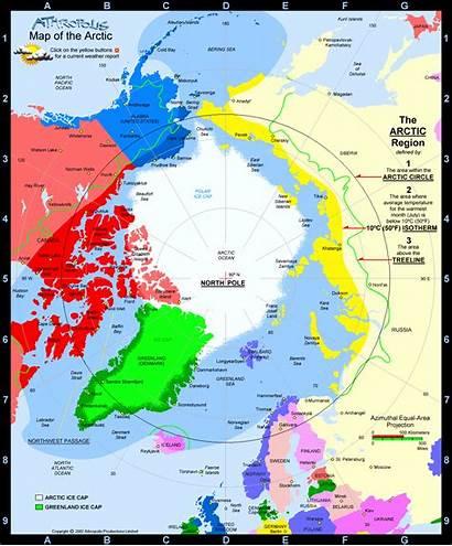 Arctic Map Ocean Region Resilience Circle Artic