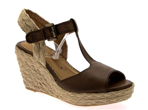 Wedge Shoes : Womens Hessian Rope Wedge Platform Tbar Sandals Summer