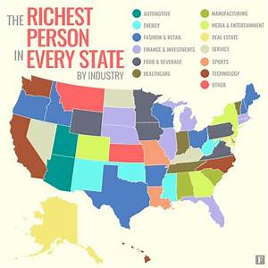 The richest person in every U.S. state, by industry ...