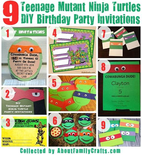 75 diy teenage mutant ninja turtles birthday party ideas about family crafts