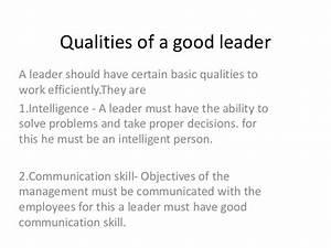 Good Leadership Qualities Essay Free Essay Samples Characteristics