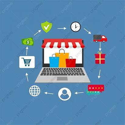 Commerce Vector Digital Marketing Shopping Sales Concept
