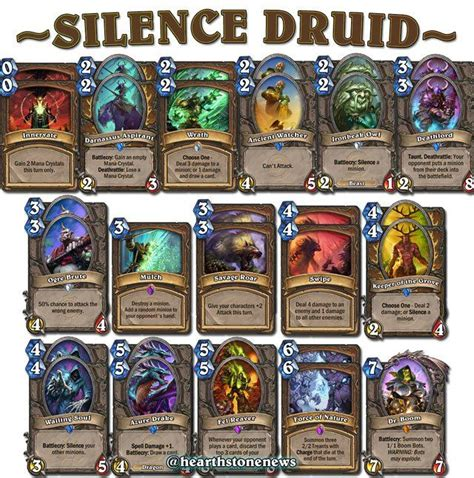 hearthstone decks druid beast 25 best hearthstone decks images on deck