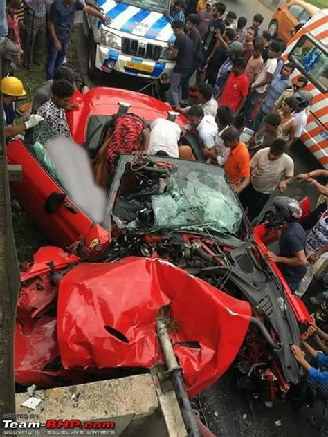 27 people died and 50 more were injured in the accident. Fatal Ferrari California accident in Kolkata - Team-BHP