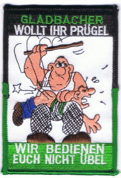anti gladbach aufnaeher pruegel fussball fanshop